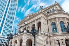 Het huis van de de stadsopera van Alte Oper Frankfurt-am-Main royalty-vrije stock afbeelding