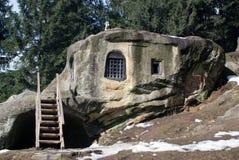 Het huis van de steen royalty-vrije stock afbeeldingen
