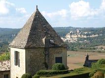Het huis van de steen in Marqueyssac Stock Afbeeldingen