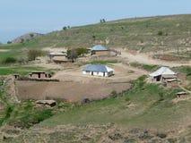 Het huis van de Tadjik landbouwer Stock Foto
