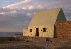 Het huis van de visser in Jersey het UK Stock Afbeelding