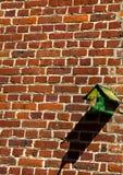 Het huis van de vogel op de muur Royalty-vrije Stock Foto