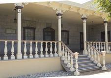 Het huis van de werkmansfamilie bij het Hoevemuseum Stock Afbeeldingen