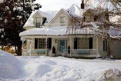 Het Huis van de winter Stock Foto