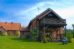 Het huis van de zomer stock foto