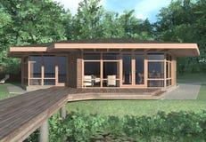 Het huis van de zomer Stock Afbeelding