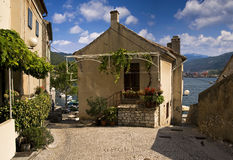 Het huis van de zomer in Kroatië Royalty-vrije Stock Foto