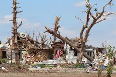 Het Huis van Distroyed van de tornado na het Onweer Royalty-vrije Stock Afbeelding