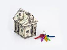 Het huis van dollars Stock Foto