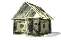 Het huis van dollars Royalty-vrije Stock Foto's