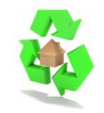 Het huis van Eco Stock Afbeelding