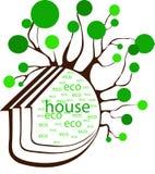 Het huis van Eco Royalty-vrije Stock Fotografie