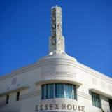 Het Huis van Essex van de Stijl van het art deco in het Strand van Miami Stock Afbeelding