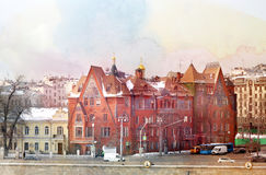 Het huis van fototorens in Moskou Stock Foto's