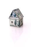 Het huis van geld stock foto's
