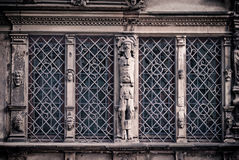 Het huis van gezichten in Colmar Stock Foto's
