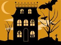 Het Huis van Halloween Stock Afbeeldingen