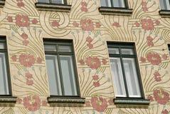 Het huis van het art deco in Wenen, Oostenrijk royalty-vrije stock afbeelding