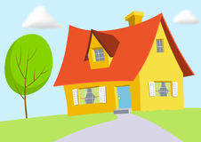 Het Huis van het beeldverhaal Vector Illustratie