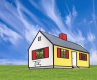Het huis van het beeldverhaal Stock Fotografie