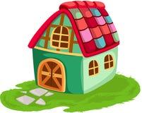 Het huis van het beeldverhaal Stock Afbeelding