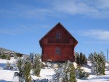 Het huis van het bergplattelandshuisje Stock Fotografie