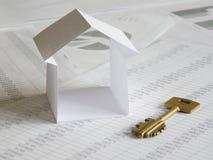 Het huis van het document Stock Afbeeldingen