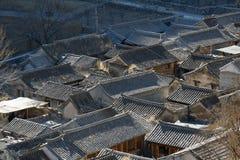 Het huis van het dorp van Noord-China Royalty-vrije Stock Afbeeldingen