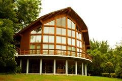 Het huis van het glas Stock Foto