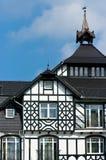 Het huis van het hout in Polen Stock Fotografie