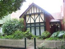 Het huis van het houtkader Stock Foto's