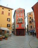 Het huis van het Italianatedetail in Rovinj Royalty-vrije Stock Afbeeldingen