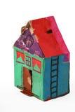 Het huis van het karton Stock Afbeeldingen