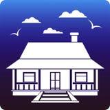 Het huis van het land Royalty-vrije Stock Afbeeldingen