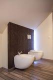 Het huis van het land - toilet royalty-vrije stock fotografie