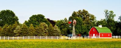 Het huis van het landbouwbedrijf in de V.S. Royalty-vrije Stock Foto's