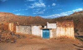Het huis van het landbouwbedrijf in Marokko Stock Afbeeldingen