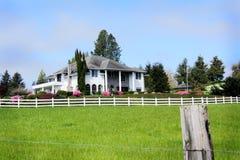 Het Huis van het Landbouwbedrijf van het Land van de heer stock afbeelding