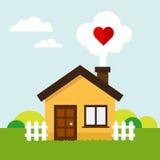 Het huis van het liefdehart vector illustratie