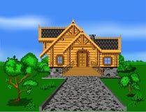 Het huis van het logboek stock illustratie