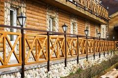 Het huis van het logboek Stock Foto