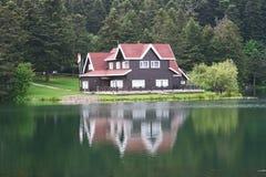 Het Huis van het meer stock foto