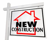 Het Huis van het nieuwe Bouwhuis voor het Teken van Verkoopreal estate vector illustratie