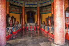 Het huis van het Parkhuang qiong yu van Peking Tiantan binnen Royalty-vrije Stock Foto