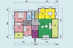 Het huis van het plan royalty-vrije illustratie