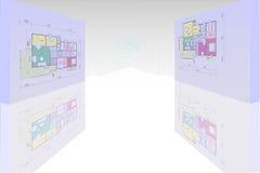 Het huis van het plan vector illustratie