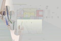 Het huis van het plan Stock Afbeeldingen