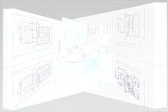 Het huis van het plan stock illustratie