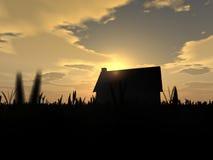 Het huis van het platteland Stock Fotografie