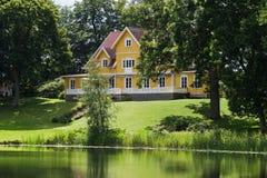 Het huis van het platteland stock foto